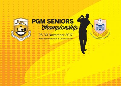 PGM Seniors Championship 2017 at KSGCC, 28th-30th November 2017